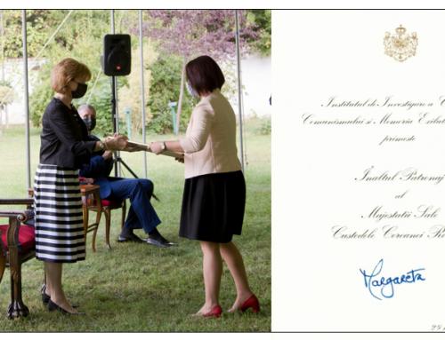 Acordarea Înaltului Patronaj Institutului de Investigare a Crimelor Comunismului si Memoria Exilului Românesc de către Majestatea Sa Margareta Custodele Coroanei
