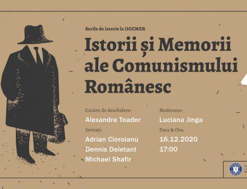 Conferința Istorii și Memorii ale Comunismului Românesc, LIVE pe Facebook, miercuri, 16 decembrie, de la ora 17.00