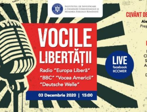 """Conferința Vocile libertății: Radio """"Europa Liberă"""", """"BBC"""", """"Vocea Americii"""", """"Deutsche Welle"""", organizată deIICCMER, va fi transmisă LIVE pe pagina de Facebook joi, 3 decembrie 2020"""